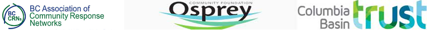 BC CRN's, Osprey Foundationa and Columbia Basin Trust Logo