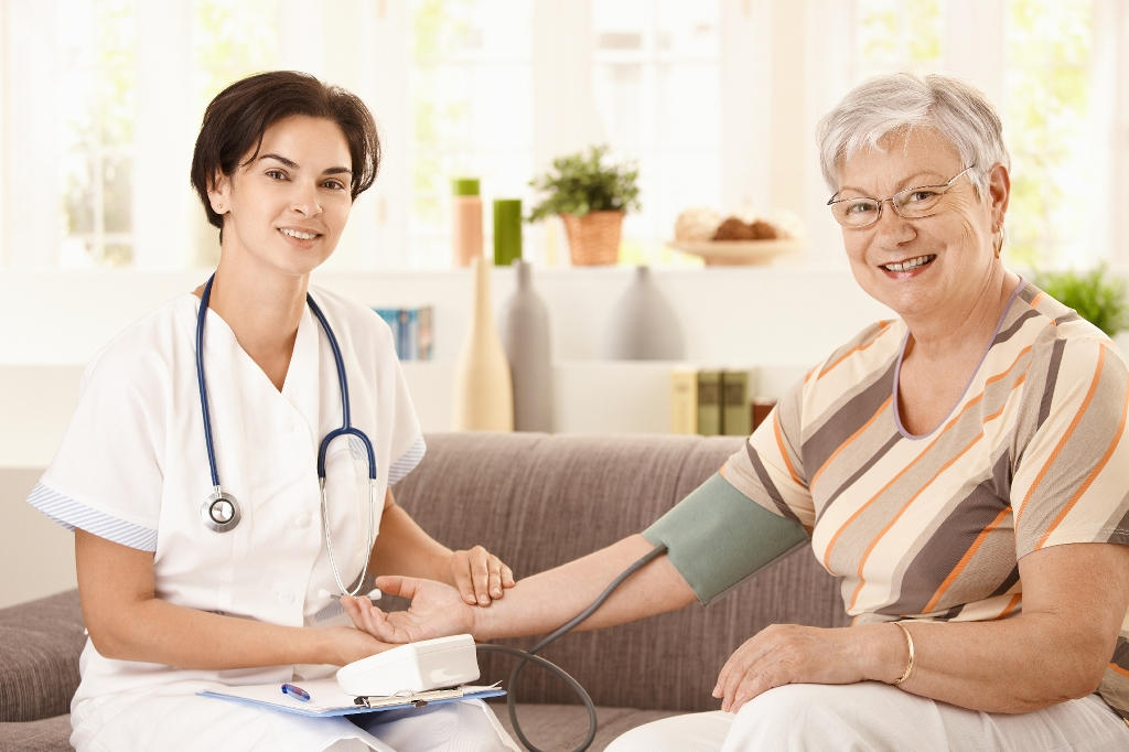 Nurse and senior client