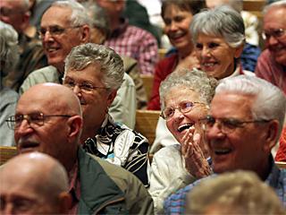 Seniors in a presentation