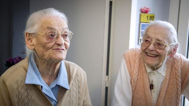 Senior Twin sisters