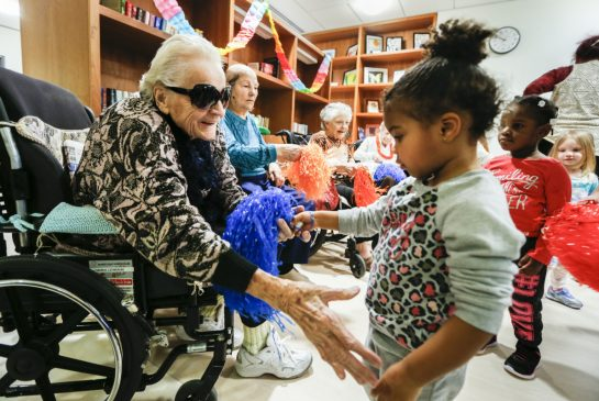 Seniors with daycare children