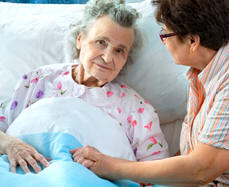 elder woman in the hospital