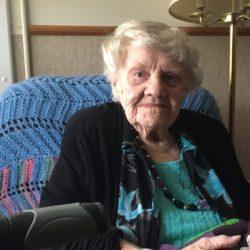 senior woman seated