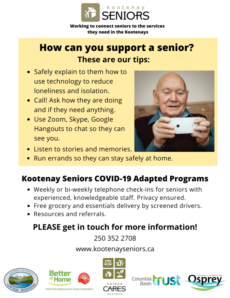 Ways to support a senior.